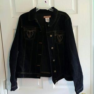 Jacket- NOT denim, feels like velvet